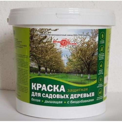 Краска акриловая защитная для деревьев дышащая с биодобавками